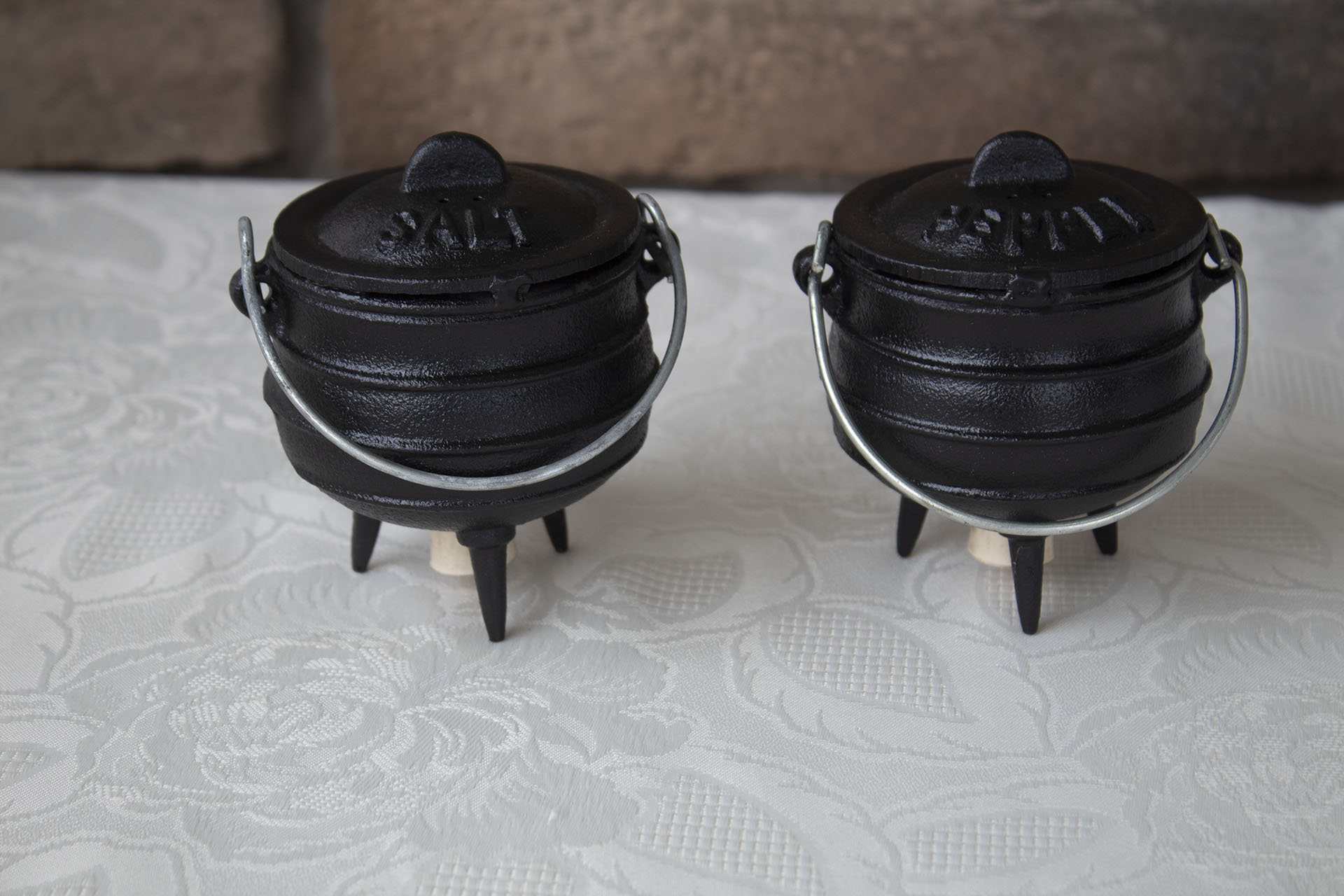Mini Potjie Salt and Pepper Set